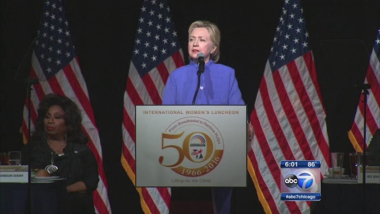 Hillary Clinton speaks at Rainbow PUSH luncheon