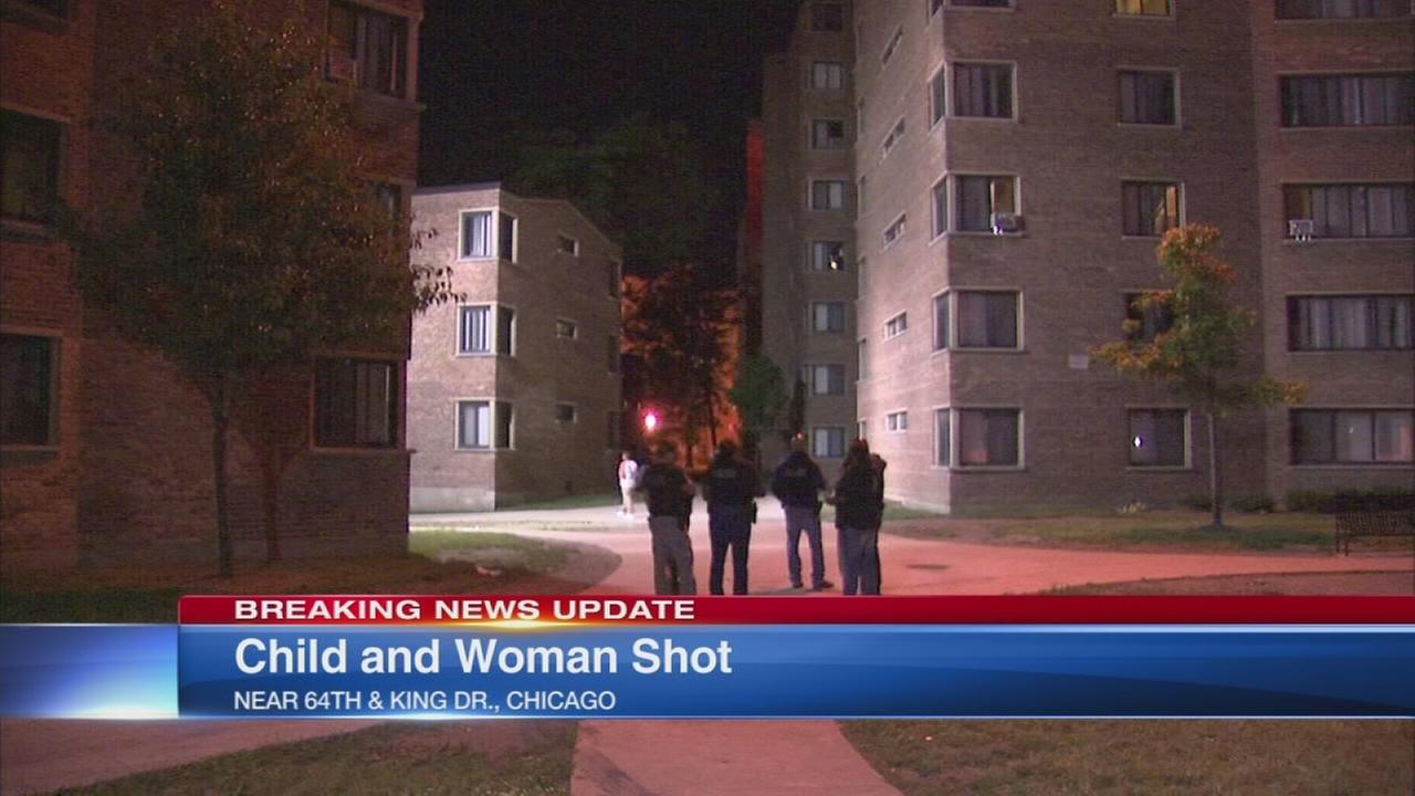 Boy shot in face, woman in bed hit by stray bullet in Woodlawn shooting