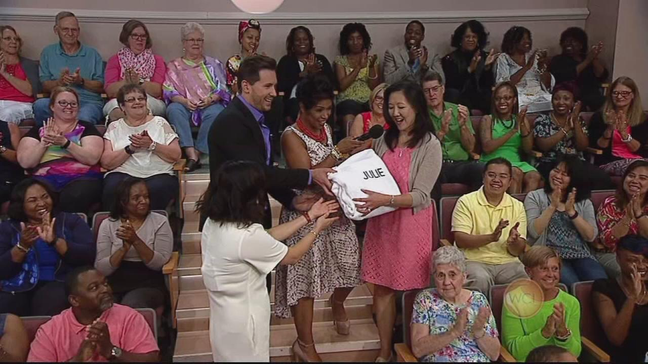 Audience member surprised with spa day
