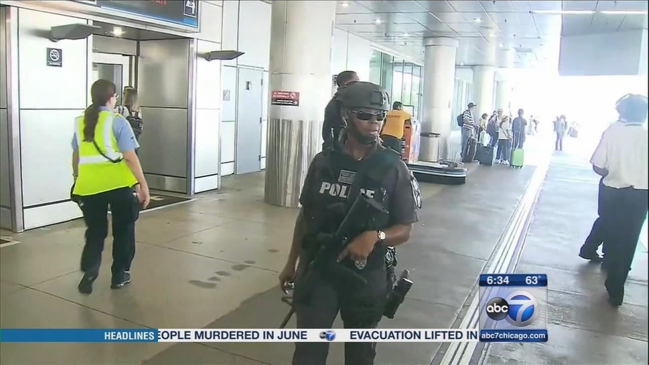 Increased security at airports for holiday travel weekend