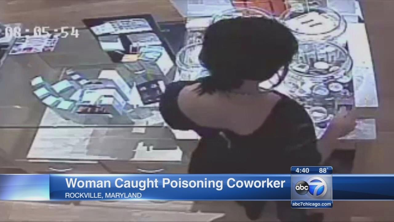 Woman caught poisoning coworker