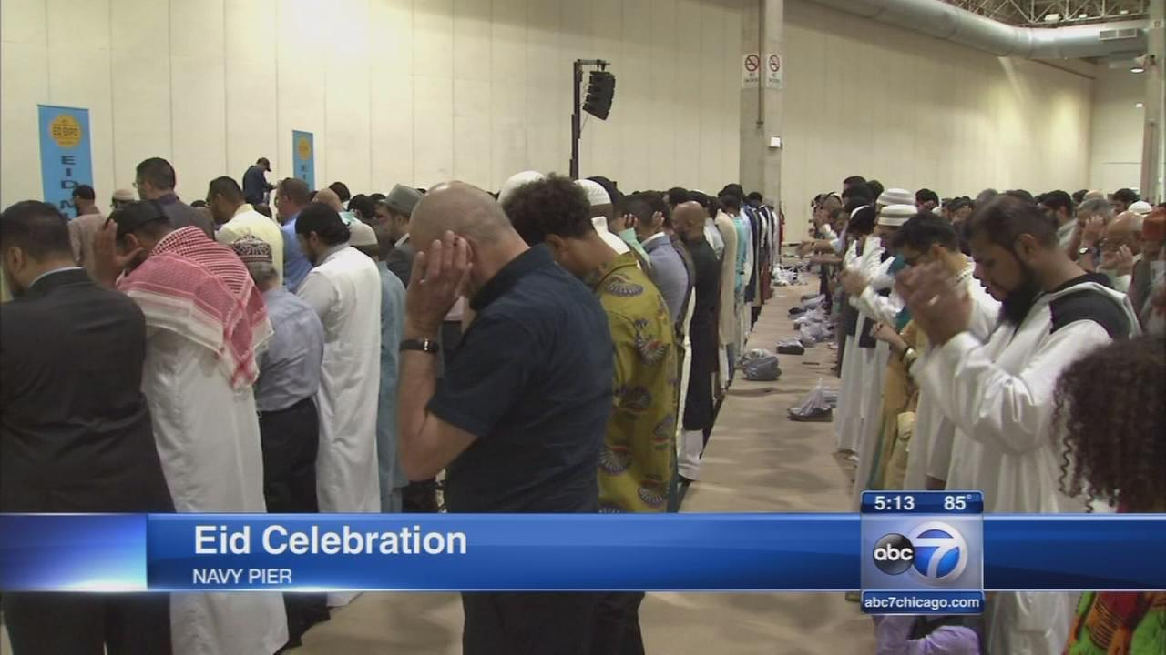 Eid celebration at Navy Pier