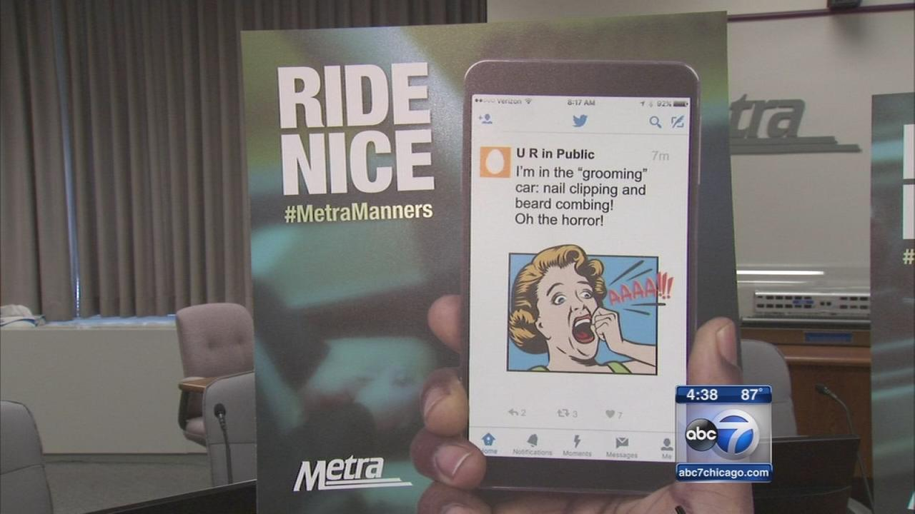 Metra reminds commuters to ride nice