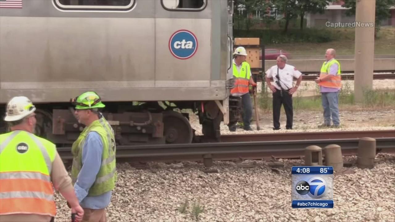 1 injured in Blue Line derailment