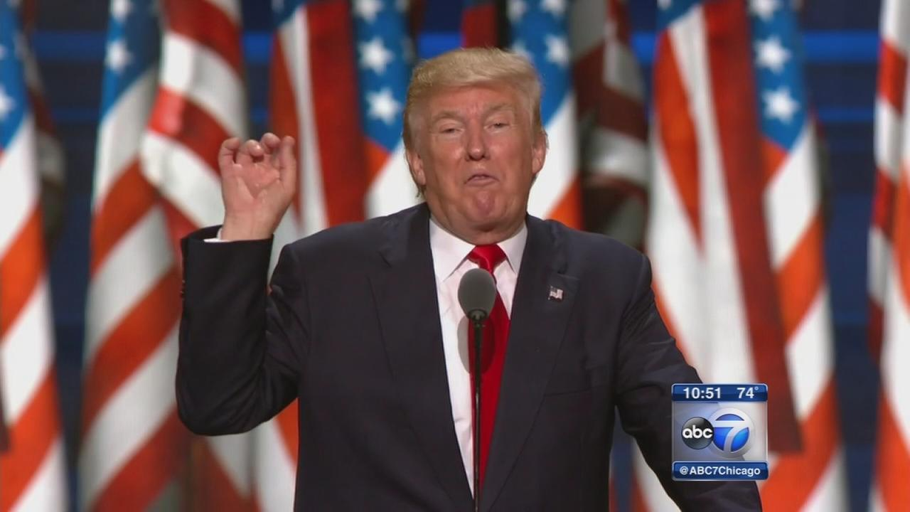 Donald Trump accepts GOP nomination