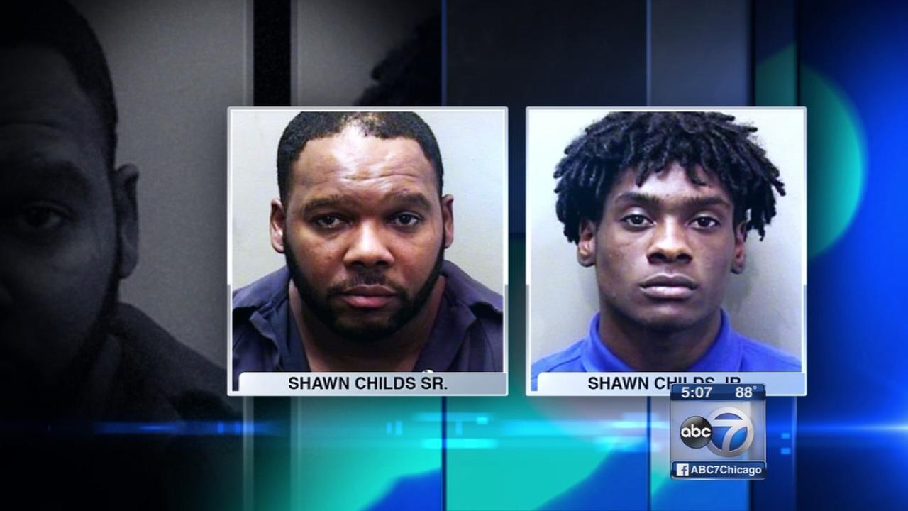 Father, son charged after alleged sexual assault