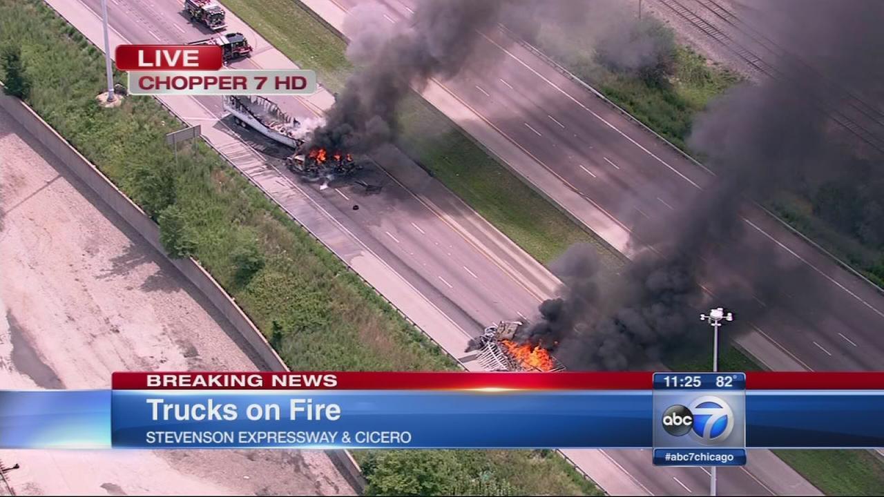 Truck fires shut down Stevenson