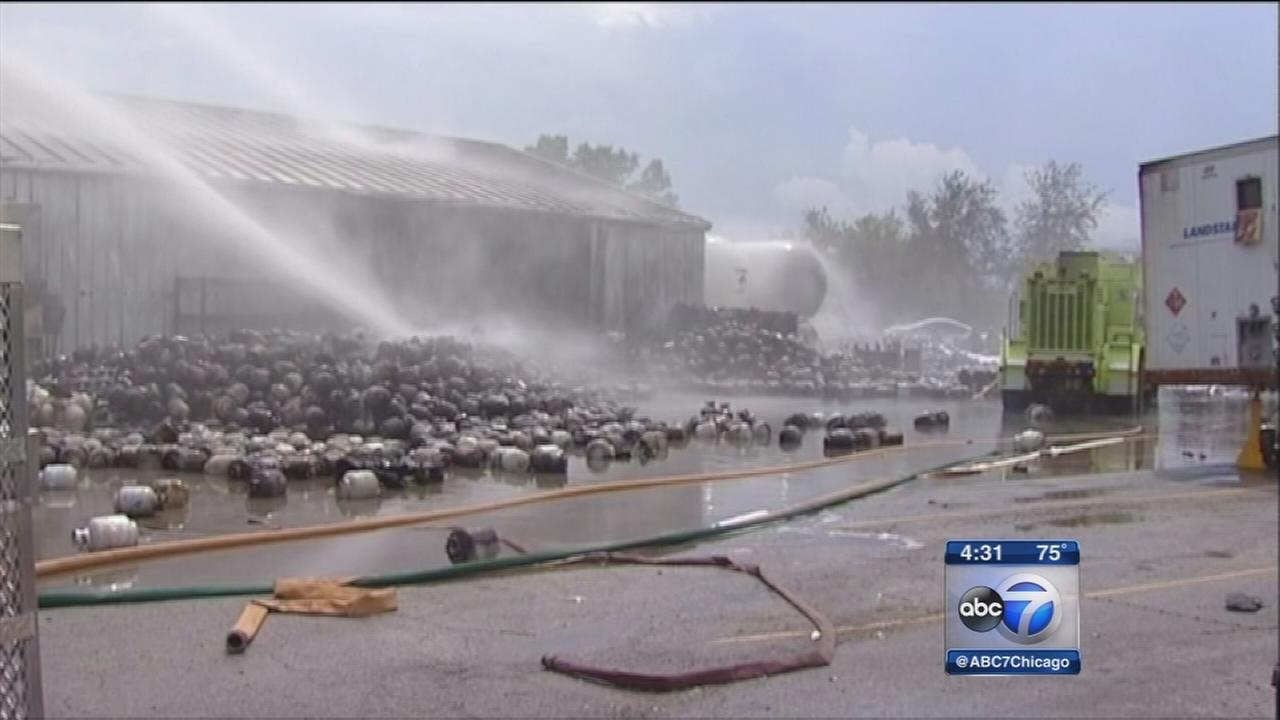 Gurnee fire triggered by exploding propane tanks