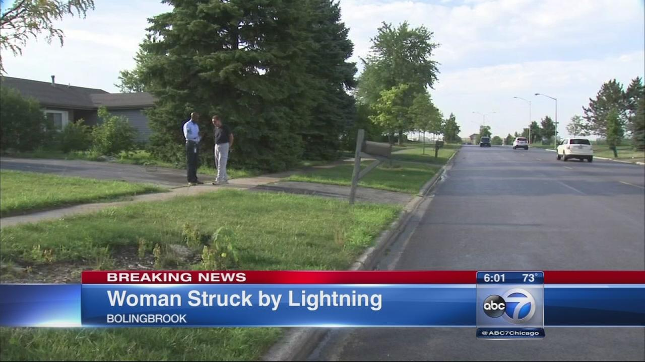 Woman struck by lightning in Bolingbrook