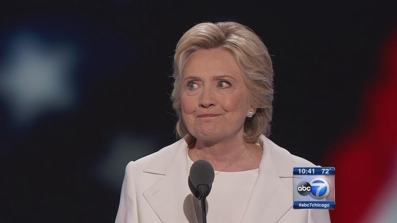 Hillary Clinton accepts Democratic nomination for president