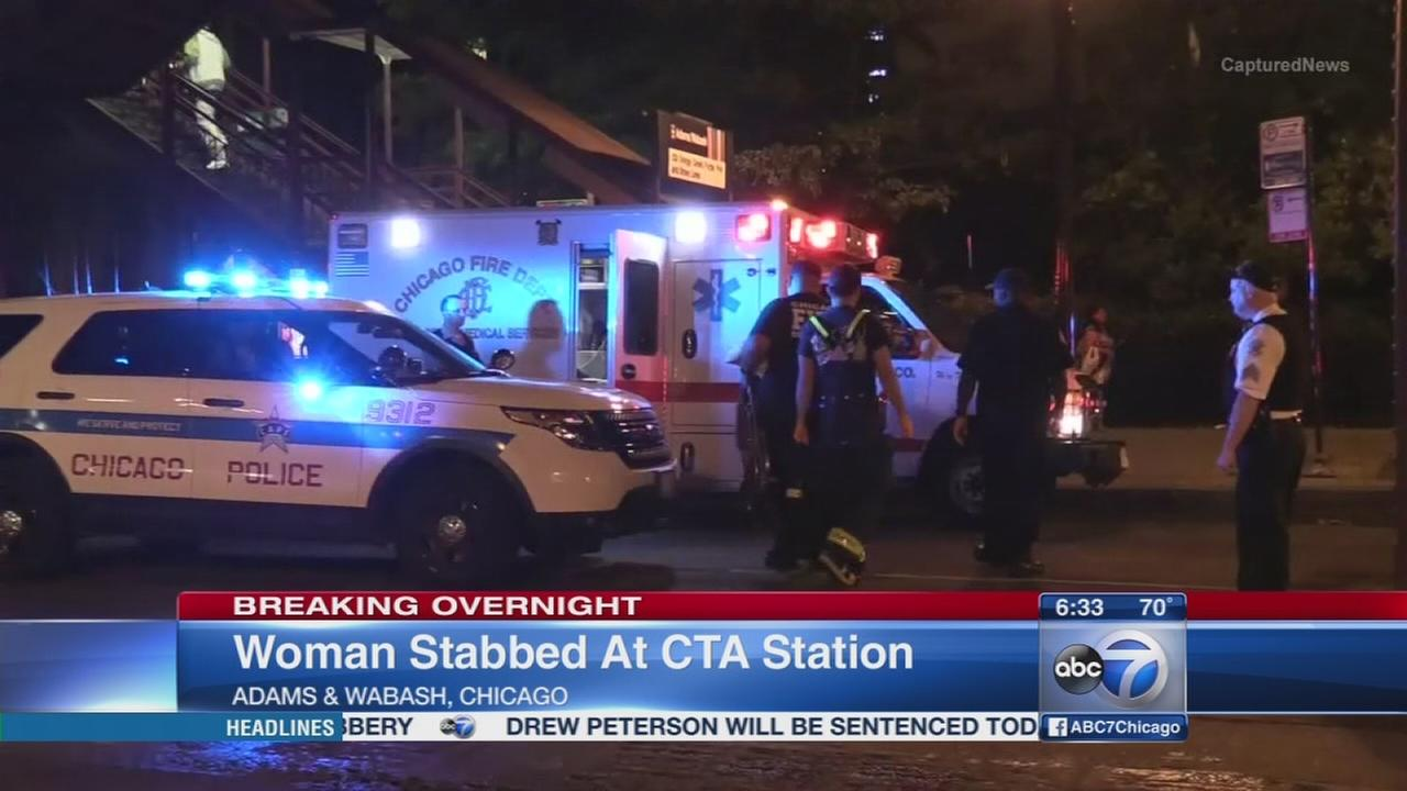Woman stabbed on CTA platform