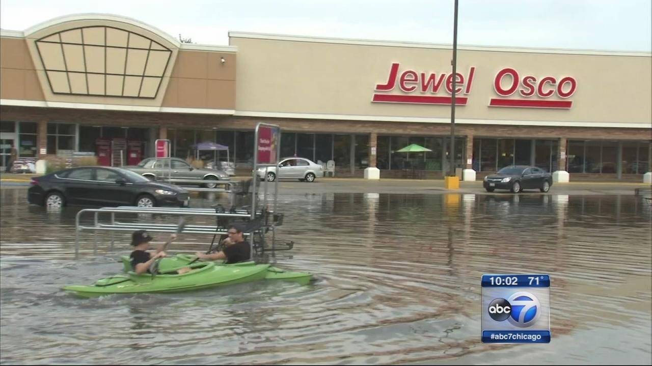 Scattered storms produce localized flooding in suburbs