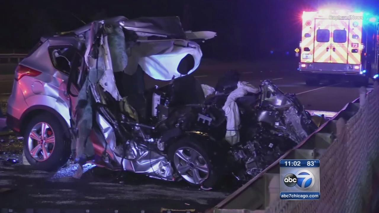 SUV mangled in Route 83 wrong way crash