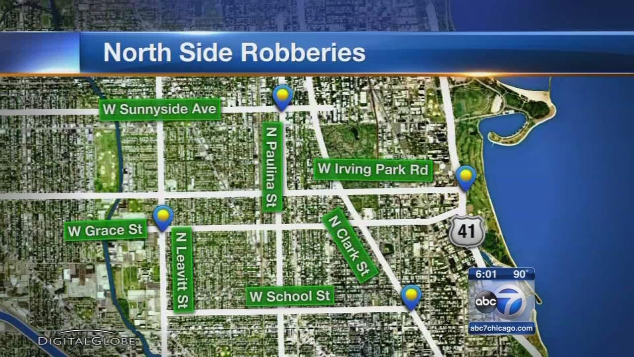 5 mugged on North Side in less than an hour