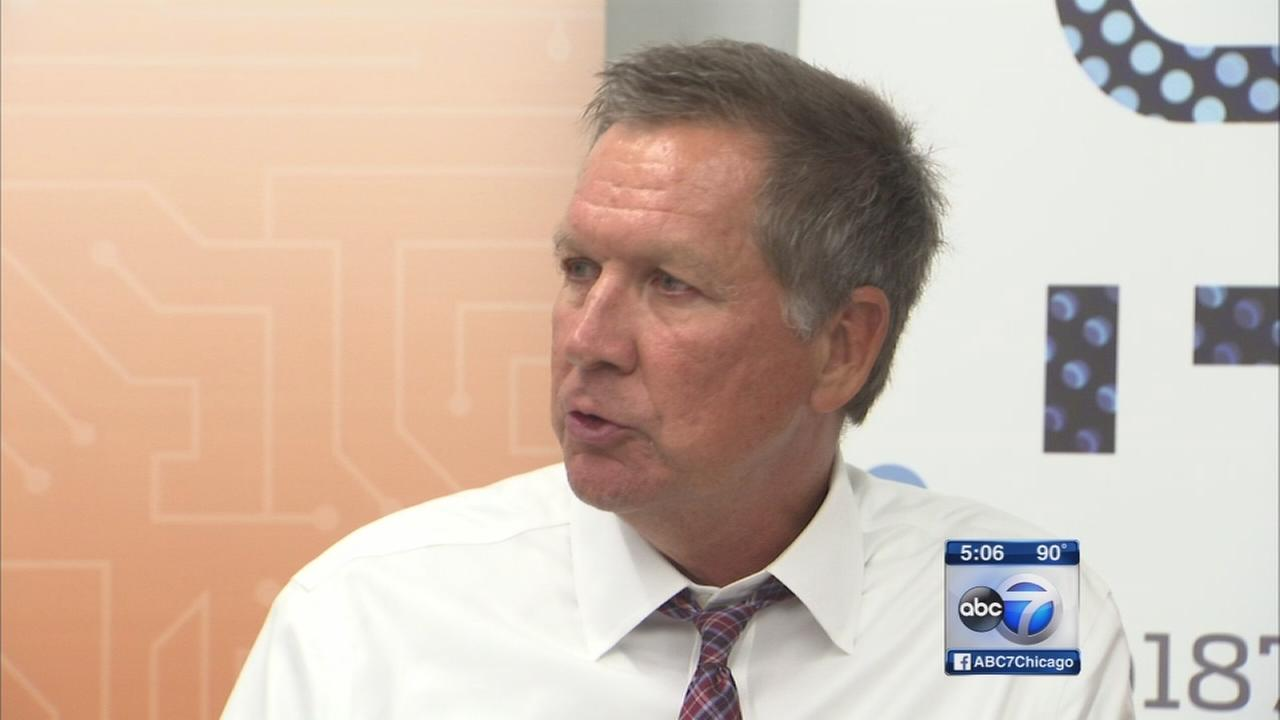 Kasich stumps for Kirk