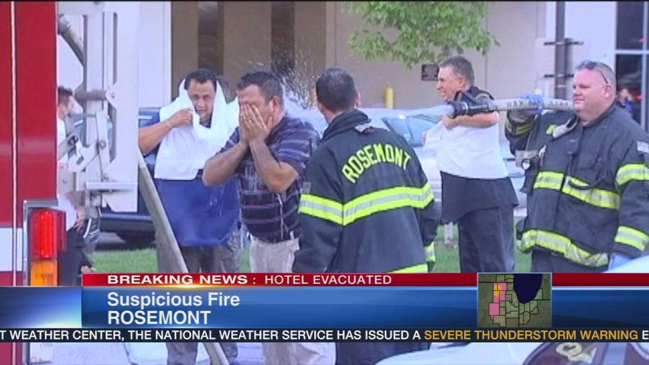 Rosemont hotel evacuated for hazmat situation