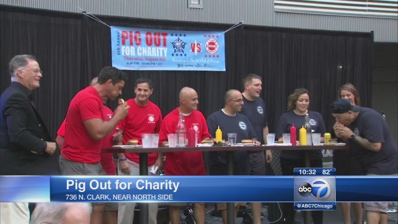 CPD and CFD face off in charity eating contest