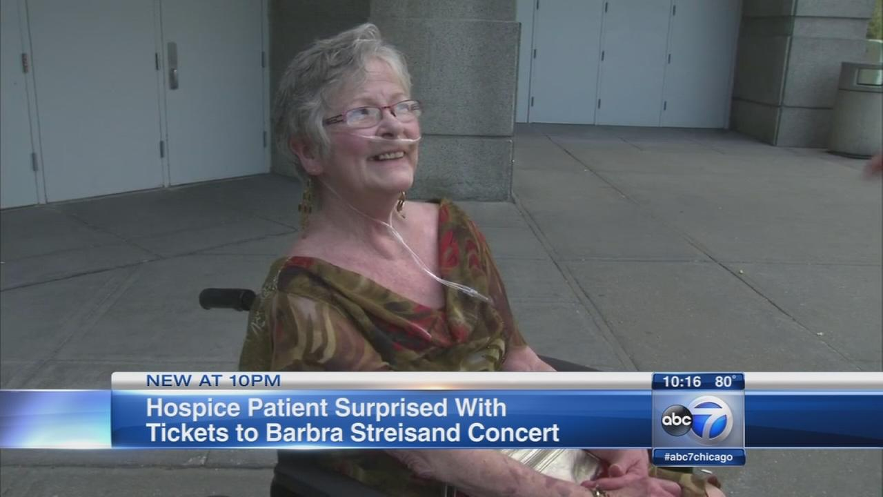 Woman with terminal lung cancer fulfills Streisand dream