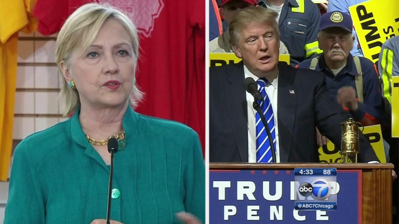 Clinton and Trump both held rallies Wednesday