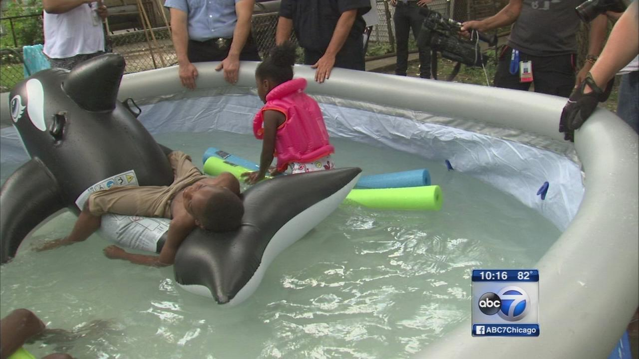 Police buy pool for 6-year-old shot in drive-by