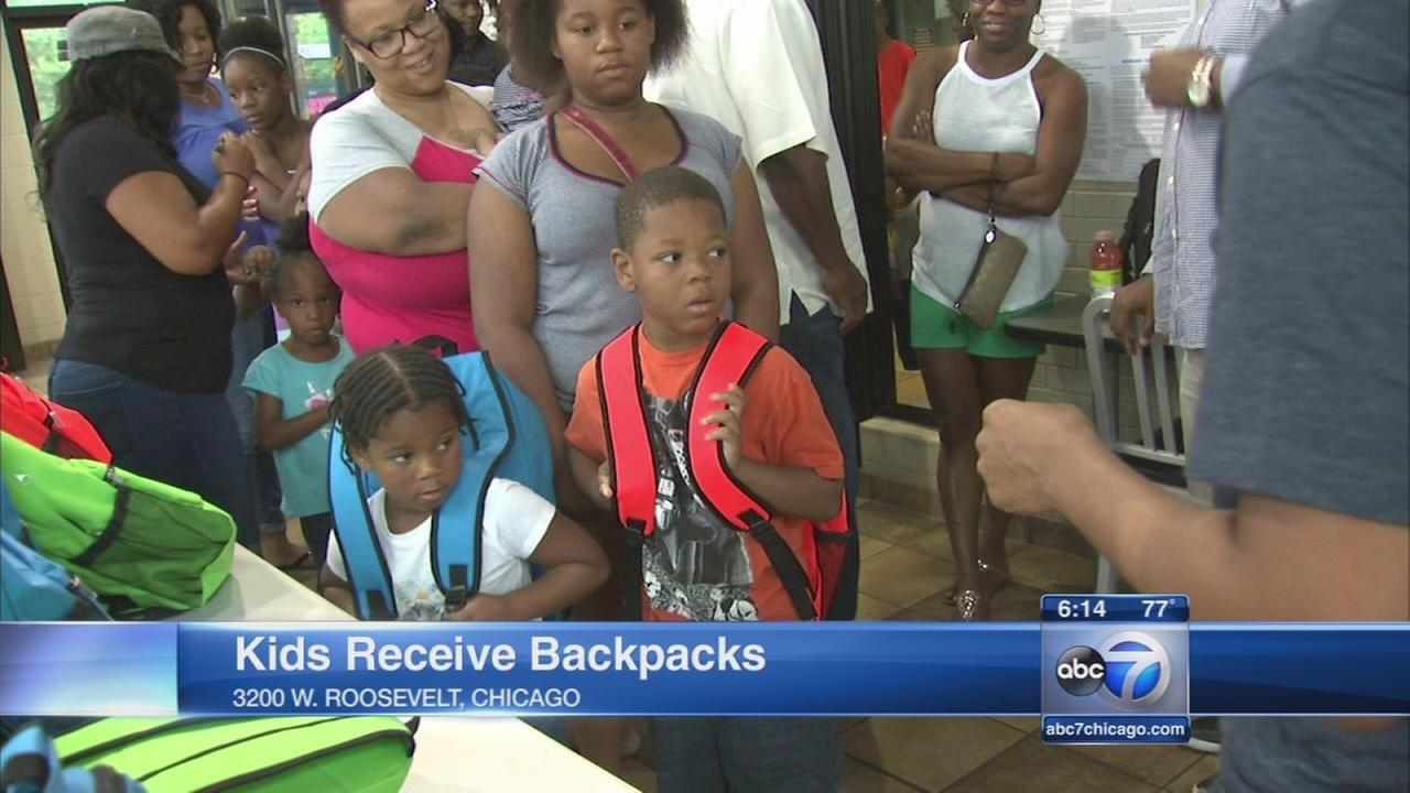 McDonalds owners give away school supplies