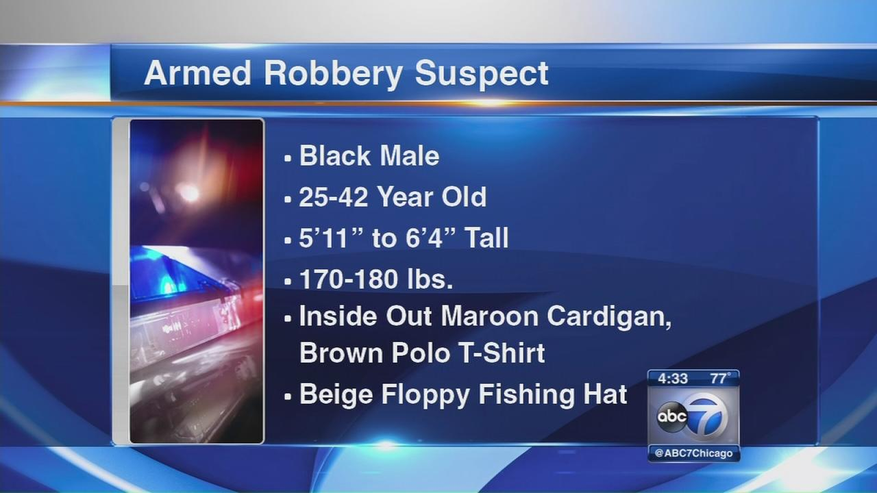 Armed robber hits NW Side on Saturday