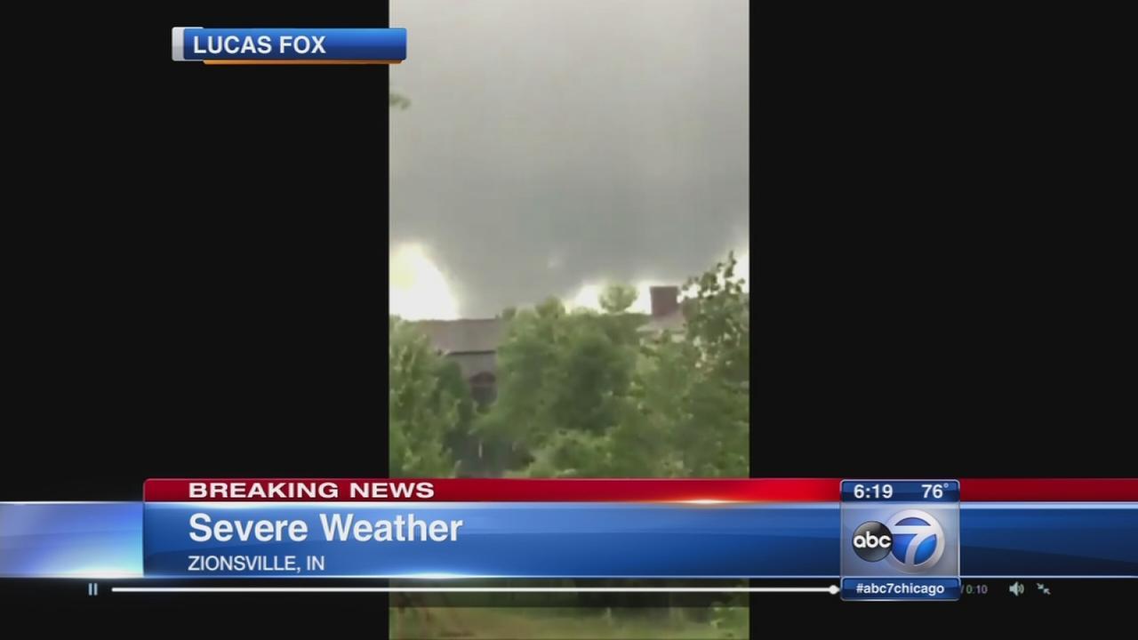 Tornado in Zionsville, Ind.
