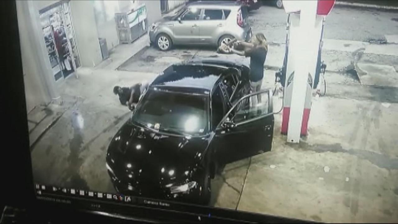 Gas station shootout caught on camera