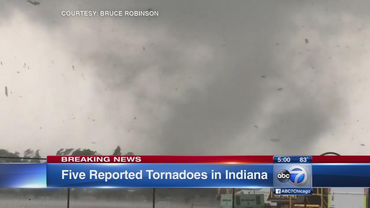 Five confirmed tornadoes in central Indiana