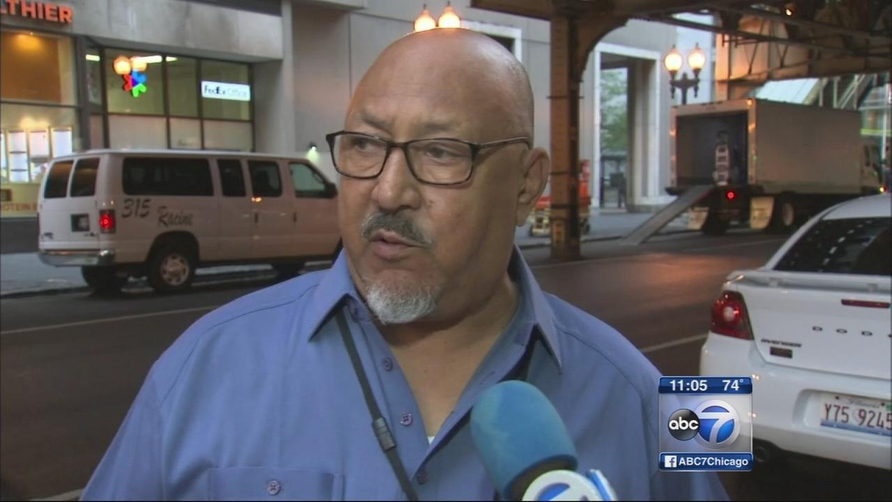 ABC7 security catch wrong way driver