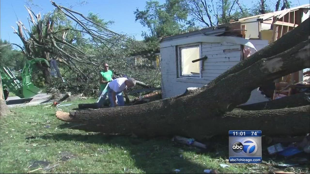 10 tornados cause damage in Indiana Ohio