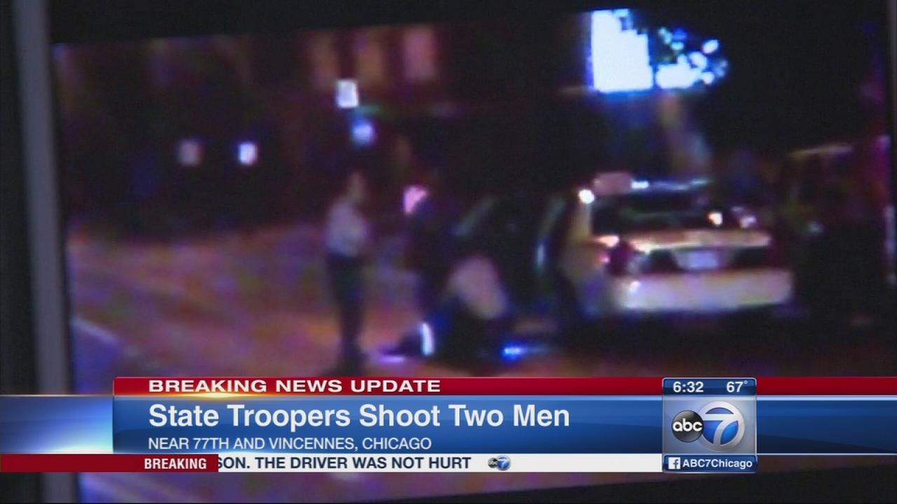 State troopers shoot 2 men