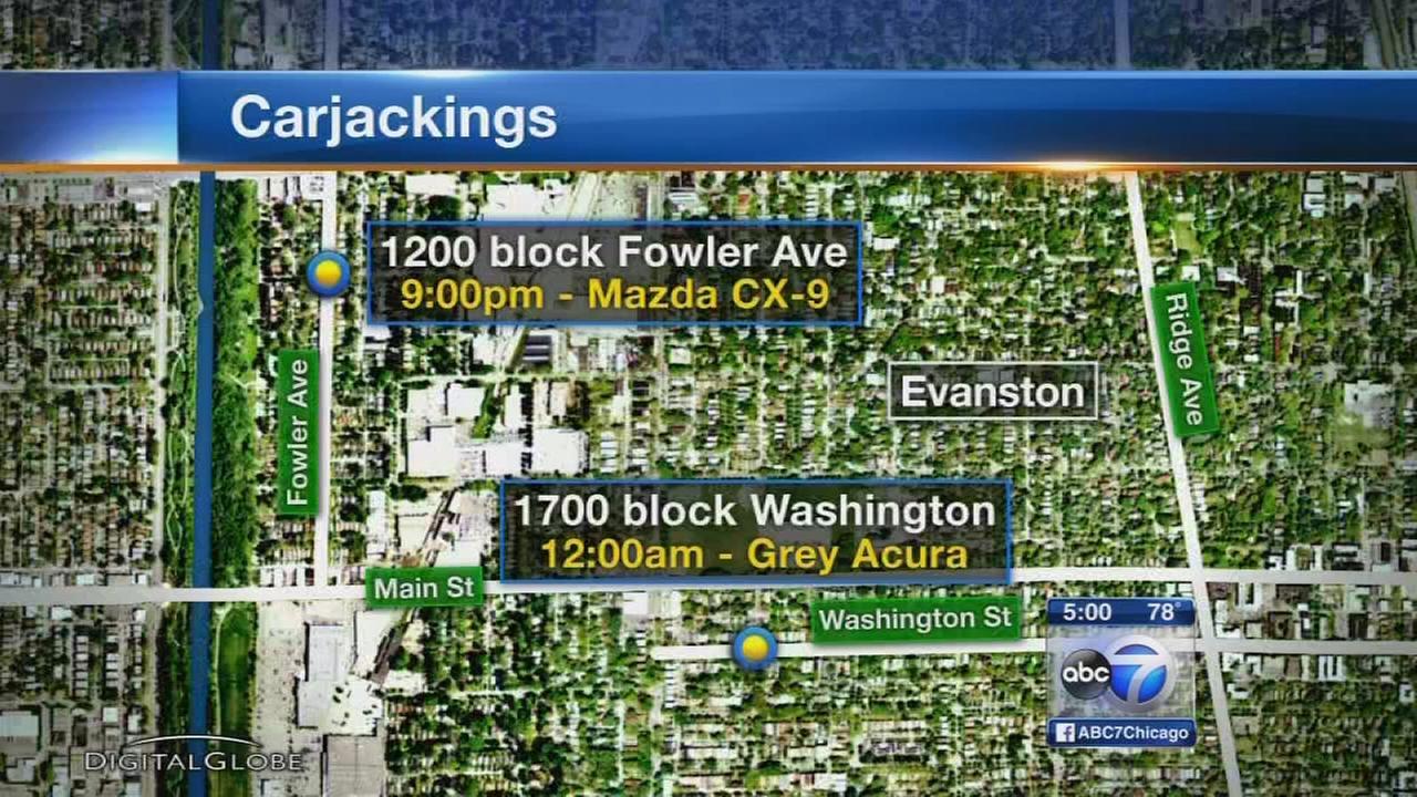 Police investigate 2 Evanston carjackings