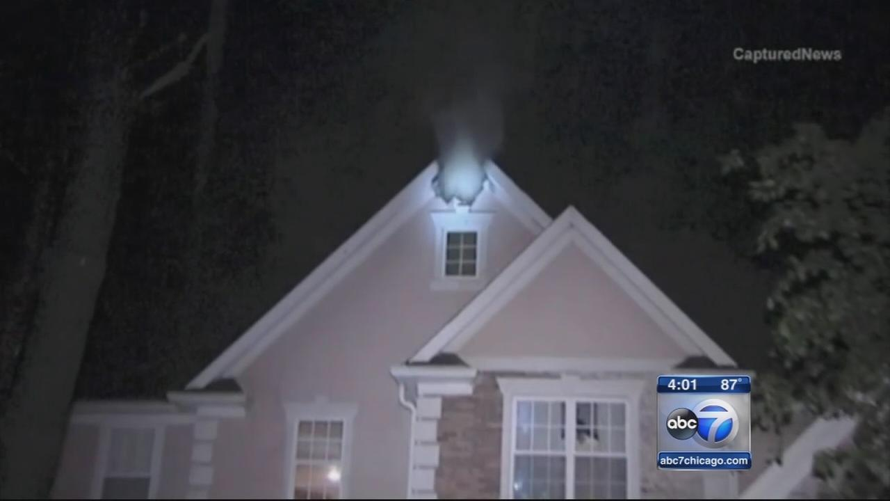 Lightning damages homes in suburbs
