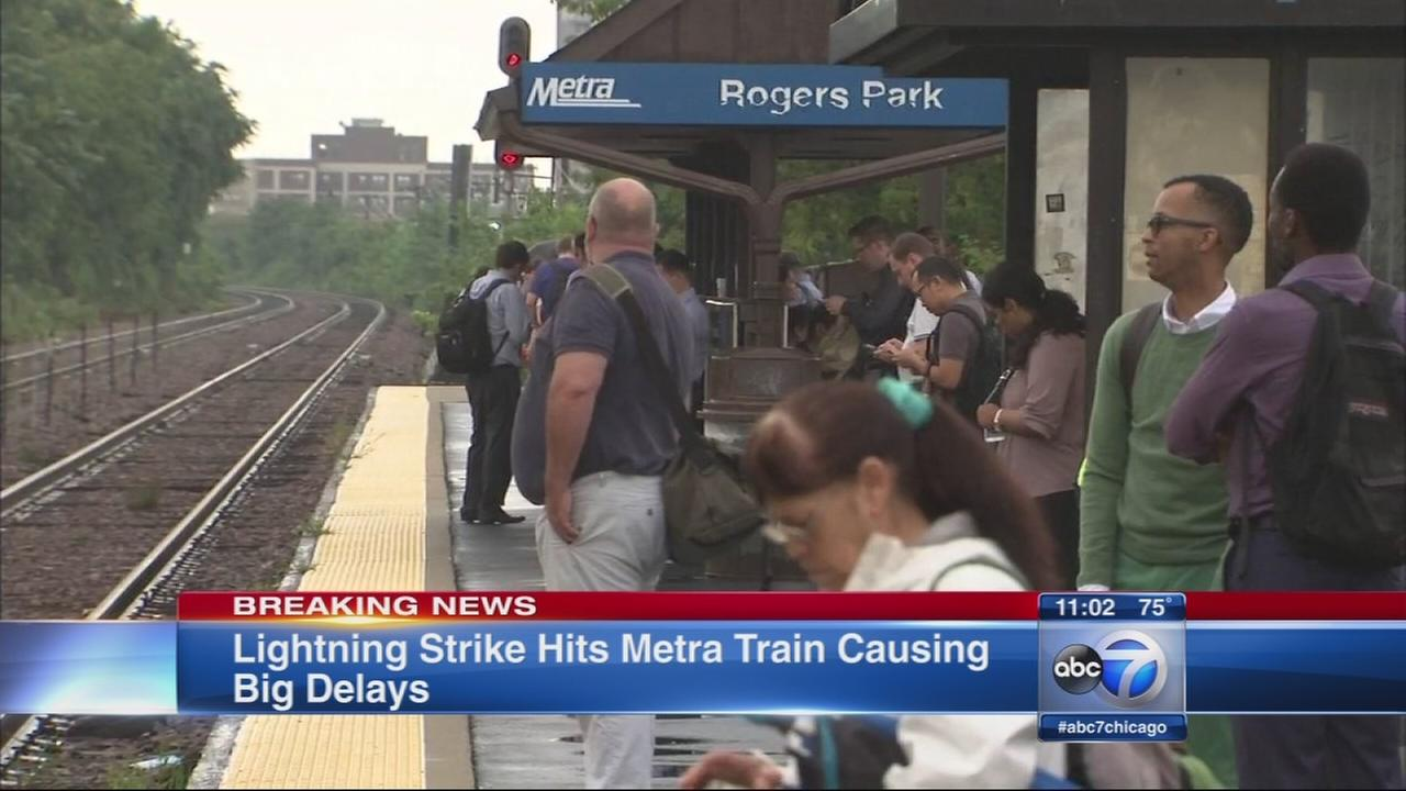 Lightning reportedly strikes Metra train
