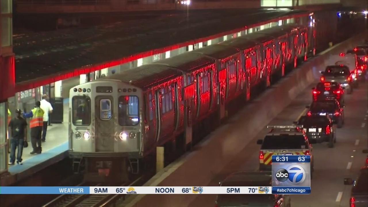 CTA Red Line scare due to debris