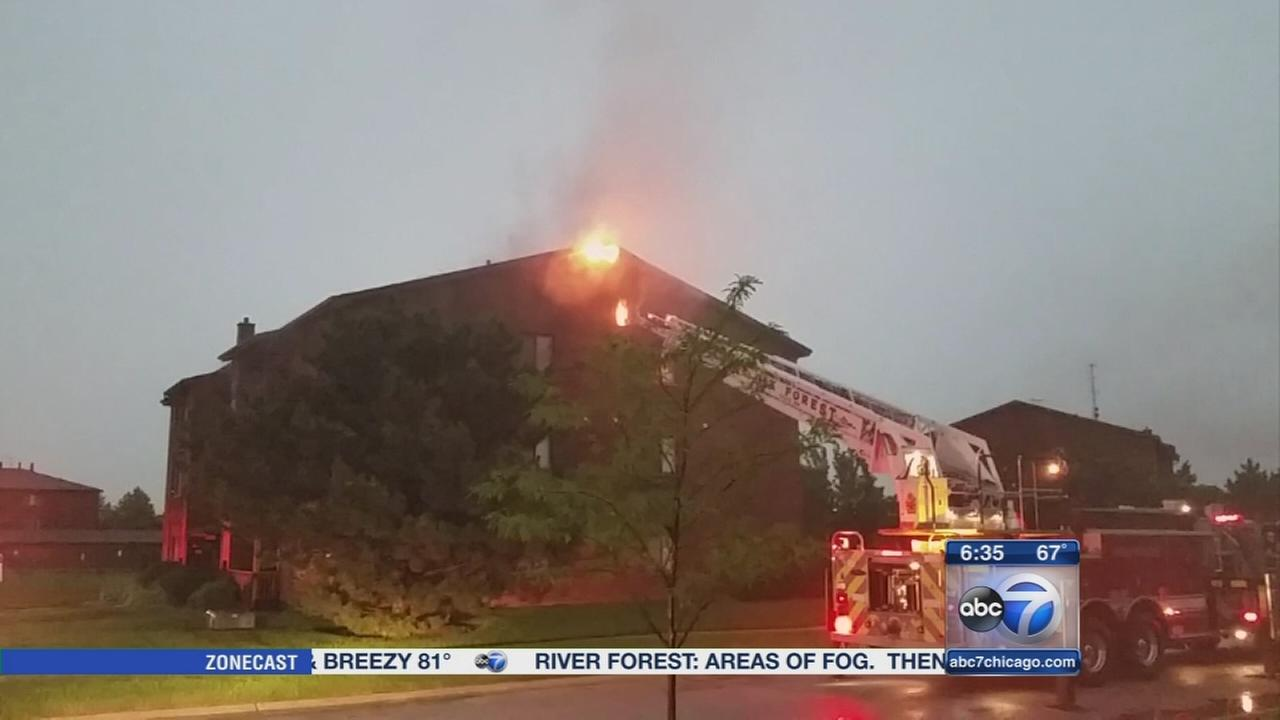 Lightning strikes Oak Forest building twice
