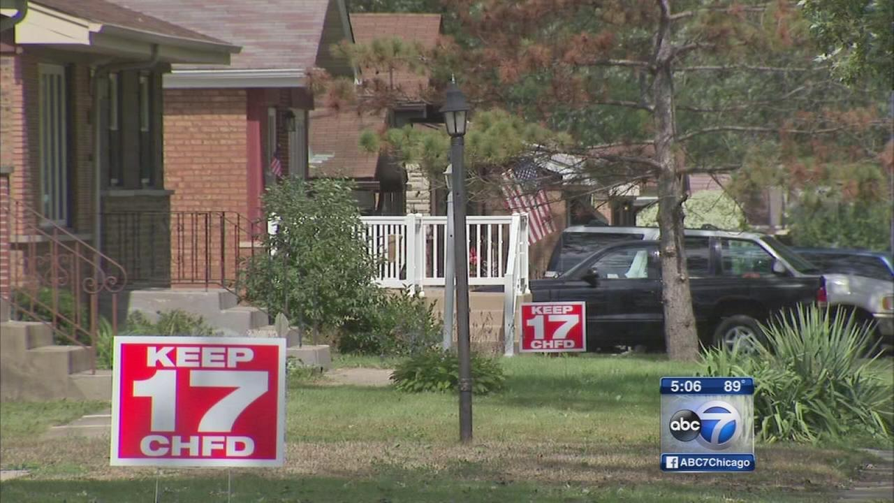 Chicago Heights residents fight fire station cuts