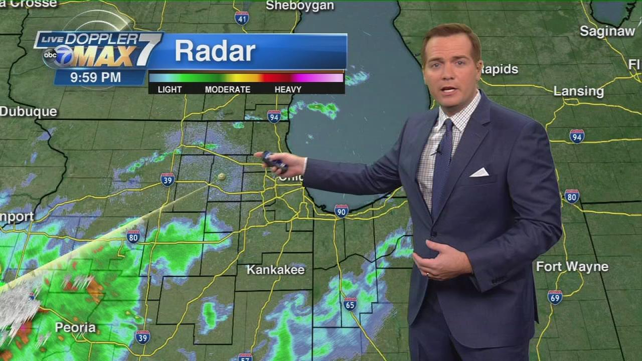 Storms miss Chicago Wednesday