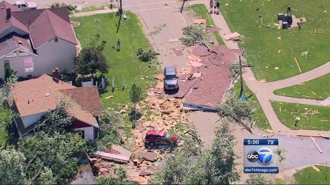 Earlville hit by EF-1 tornado
