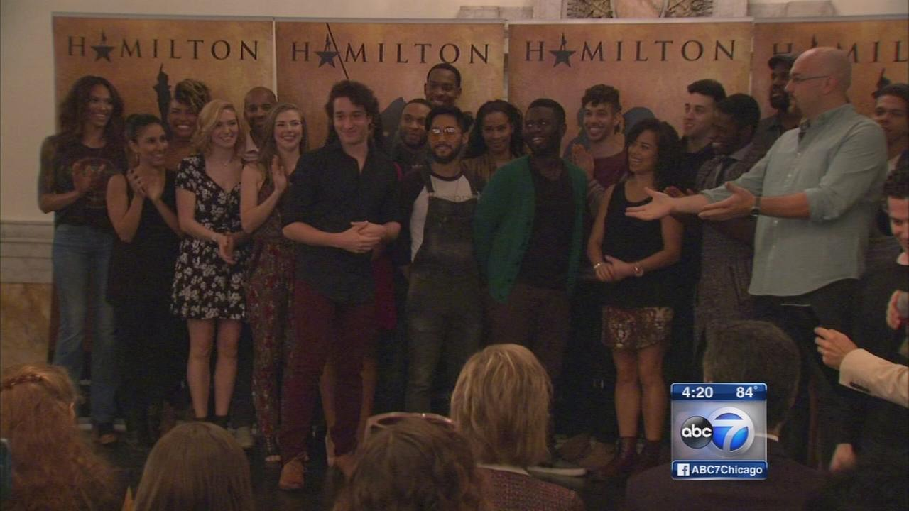 Chicago cast of Hamilton introduced