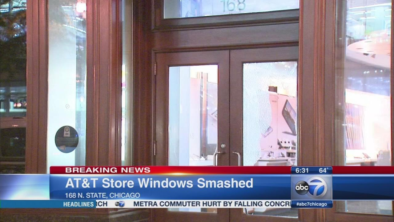 Loop store windows smashed