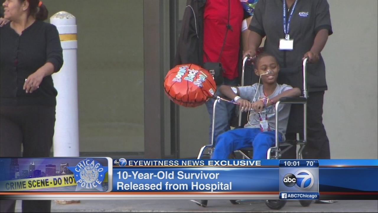 10-year-old shot on porch while playing released from hospital
