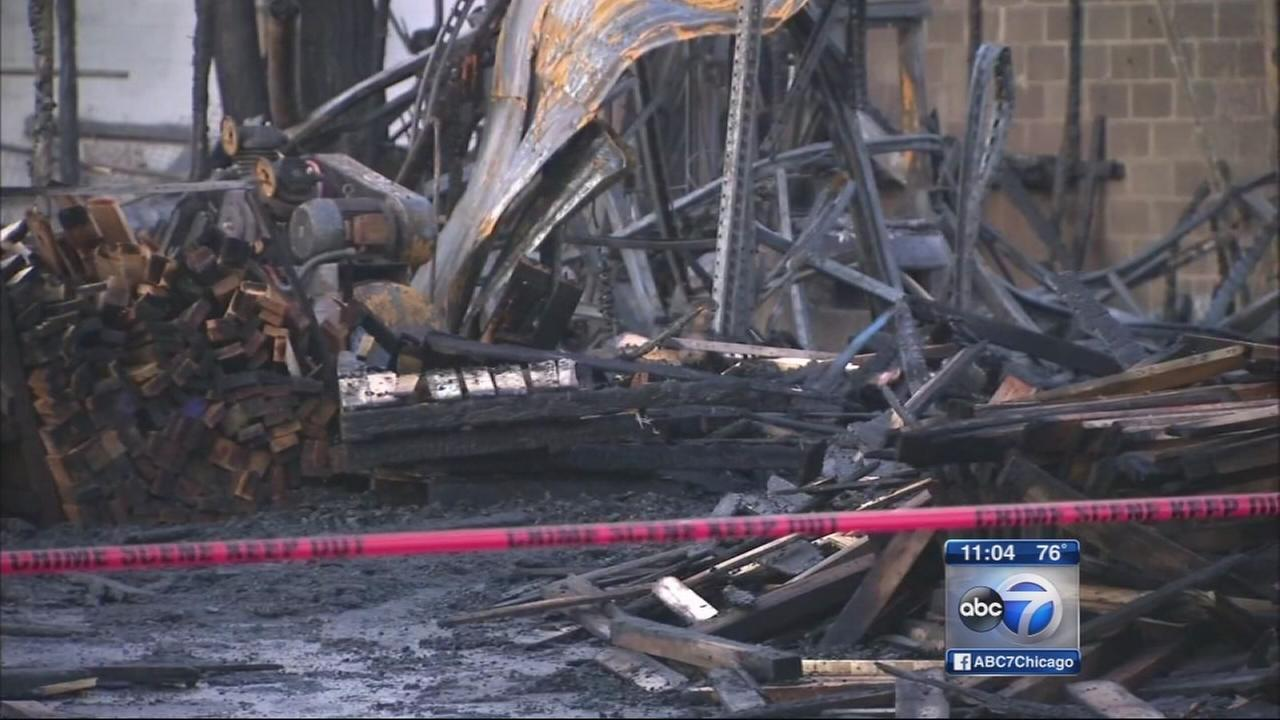 ATF CFD investigate pallet factory fire