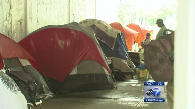 Tent city residents worried & Judge rules construction that will displace Chicagou0027s tent city is ...