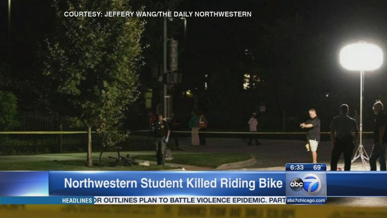 Northwestern student killed riding bike