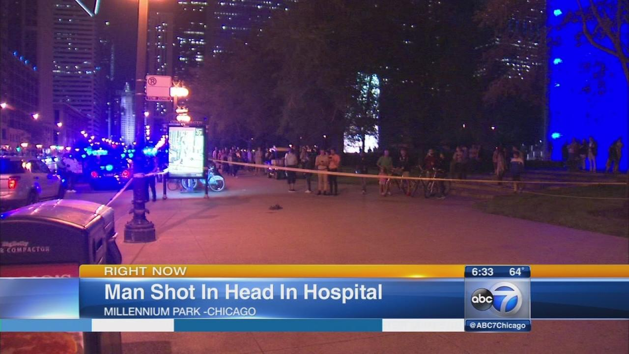 Man shot in head near Millennium Park