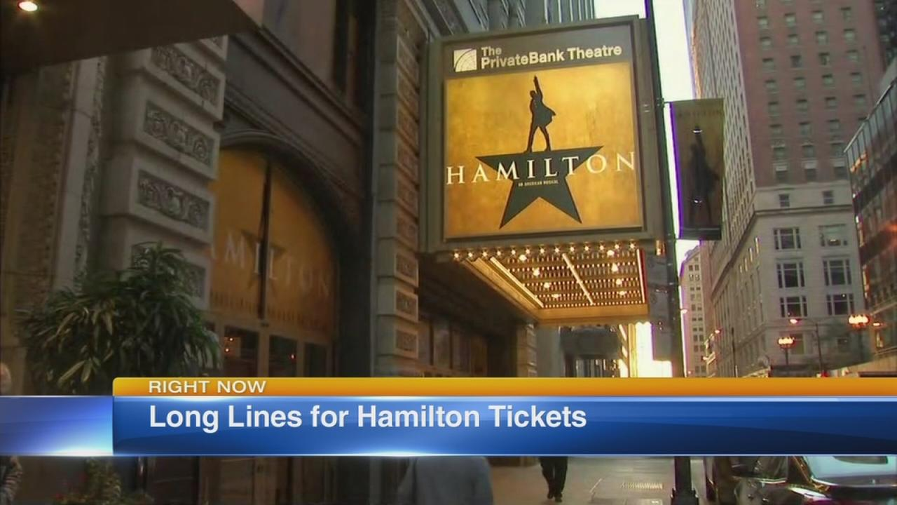 Fans camp out for Hamilton tickets