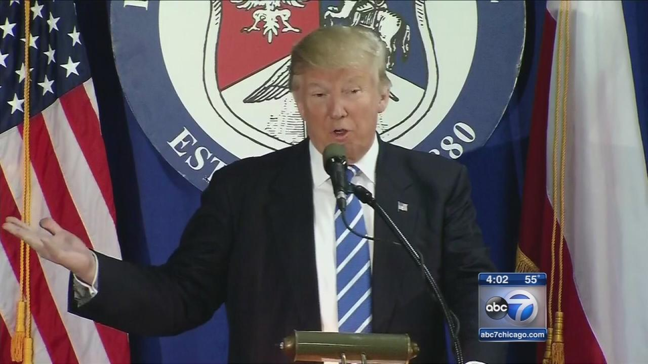 Trump campaigns in Chicago area