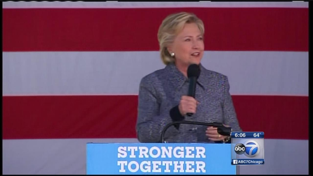 Hillary Clinton campaigns in Chicago